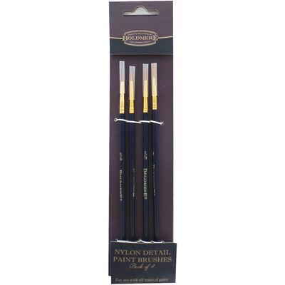 Nylon Detail Brush: Pack of 4 image number 1