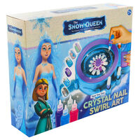 The Snow Queen Crystal Nail Swirl Art