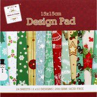 Blue Christmas Paper Pad