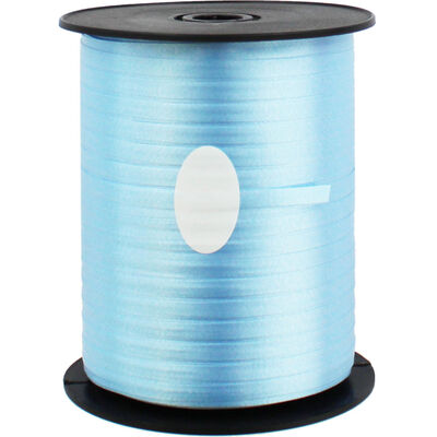 Light Blue Balloon Curling Ribbon - 500m x 5mm image number 1
