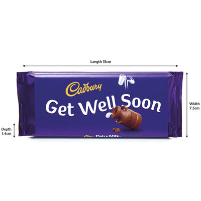 Cadbury Dairy Milk Chocolate Bar 110g - Get Well Soon image number 3