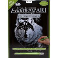 Dragon Wolf Engraving Art
