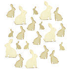 Wooden Bunny Shapes - 30 Pack image number 2