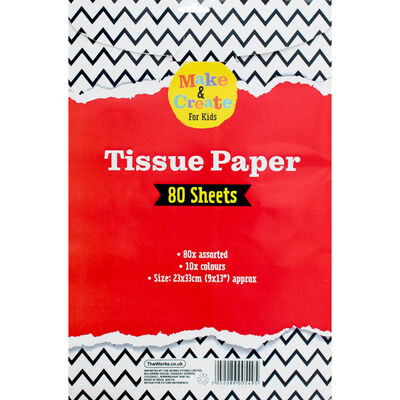 Assorted Coloured Tissue Paper - 80 Sheets image number 3