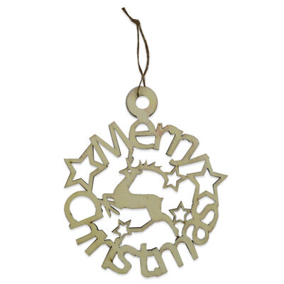Wooden Hanging Merry Christmas Sign image number 1