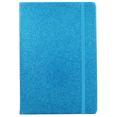 A5 Blue Glitter Cased Lined Journal image number 2