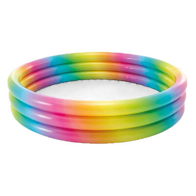Intex Rainbow Ombre 3 Ring Pool image number 1