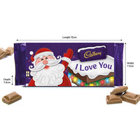 Cadbury Dairy Milk Chocolate Bar 110g - I Love You