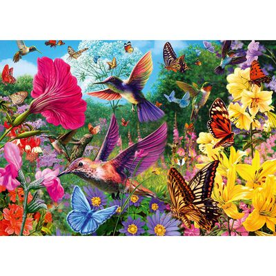 Hummingbirds and Butterflies 500 Piece Jigsaw Puzzle image number 2