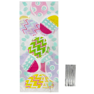 Easter Egg Cello Gift Bags - 20 Pack image number 1