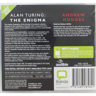 Alan Turing The Enigma: MP3 CD image number 2