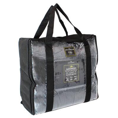 Grey Super-Soft Velvet Touch Weighted Blanket 150 x 200cm - 6.8kg image number 1