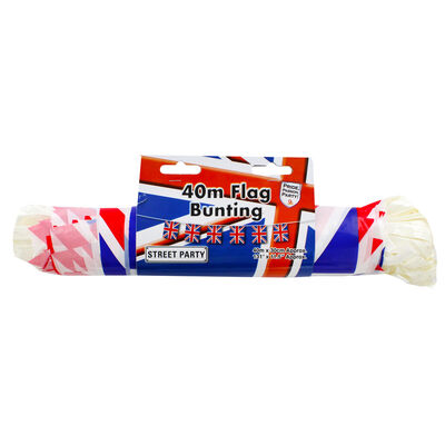 Union Jack Large Flag 40m Plastic Bunting image number 1