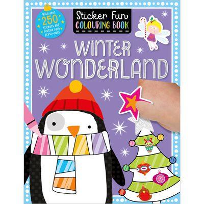Winter Wonderland: Sticker Fun Colouring Book