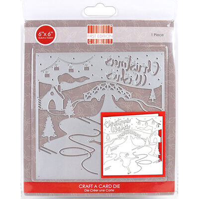 Christmas Wishes Craft A Card Metal Cutting Die image number 1