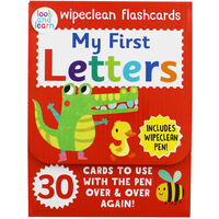 My First Letters - Wipeclean Flashcards