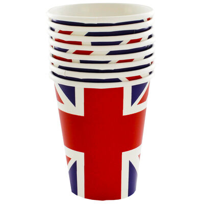 Union Jack Paper Cups - Pack of 8 image number 2
