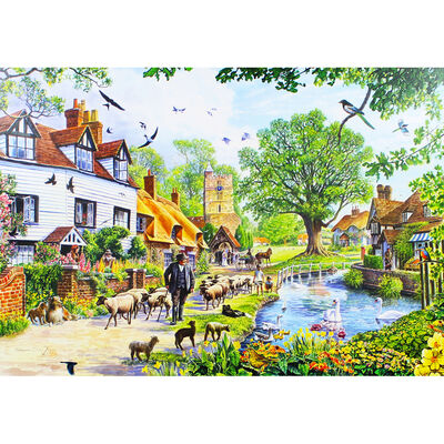 Village in Spring 1000 Piece Jigsaw Puzzle image number 3