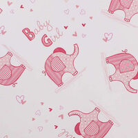 Pink Elephant Baby Girl Gift Wrap Sheets Pack