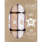 Eco-Friendly Bauble & Star Christmas Crackers: Pack of 10 image number 1