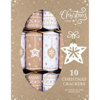 Eco-Friendly Bauble & Star Christmas Crackers: Pack of 10