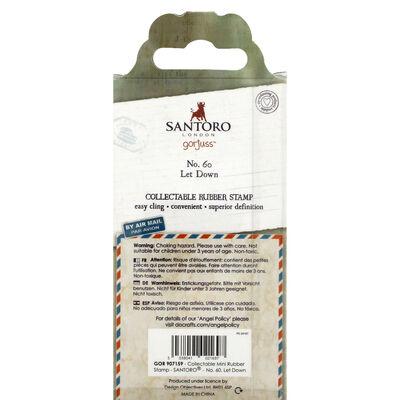 Santoro Rubber Stamp - Number 60 Let Down image number 3