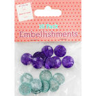 Purple Blue Dome Embellishments - 16 Pack image number 1