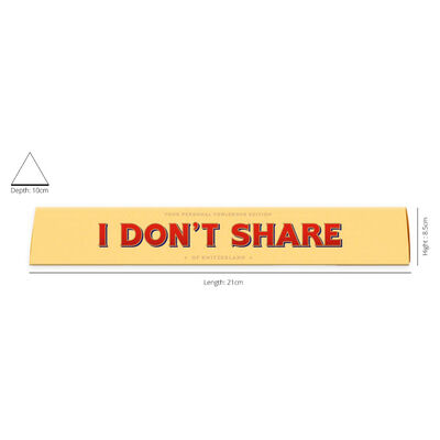 Toblerone Milk Chocolate 100g – I Don't Share image number 2