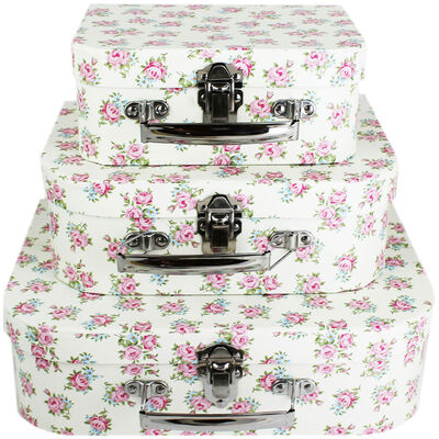 Floral Storage Suitcases - Set Of 3 image number 1