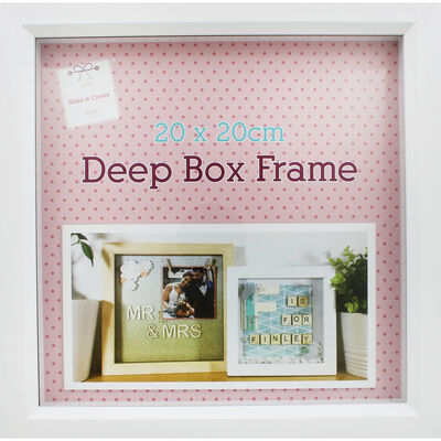 White Deep Box Frame - 20cm x 20cm image number 2