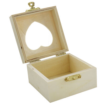 Small Wooden Heart Box image number 4