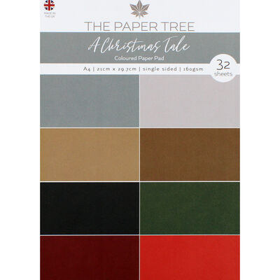 A Christmas Tale Coloured Paper Pad - 32 Sheets image number 1