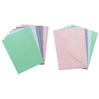 8 Pastel Polka Dot Cards - 5 Inches x 7 Inches