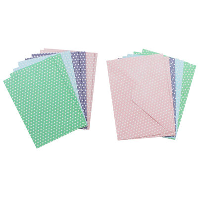 8 Pastel Polka Dot Cards - 5 Inches x 7 Inches image number 2