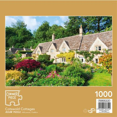 Cotswold Cottages 1000 Piece Jigsaw Puzzle image number 3
