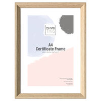 A4 Wood Effect Certificate Frame