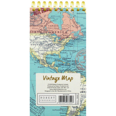 Blue Vintage Map Wiro List Pad image number 3