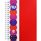 NU A4 Era Bright Red Wiro Lined Notebook image number 1