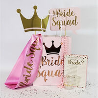 Baby Pink Bride Squad Paper Gift Bags - Pack of 5