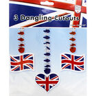 Union Jack Dangling Cut-Outs - Set of 3 image number 1