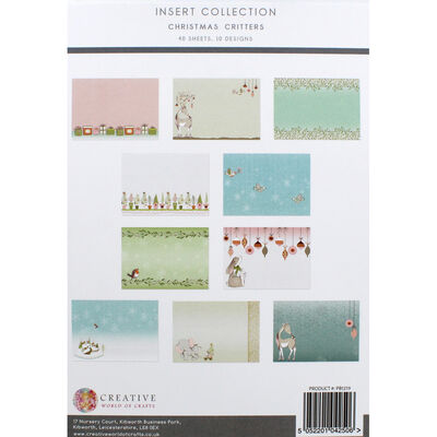 Christmas Critters Insert Collection - 40 Sheets image number 4