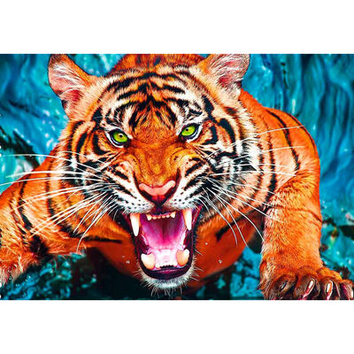 Facing a Tiger 600 Piece Jigsaw Puzzle image number 2