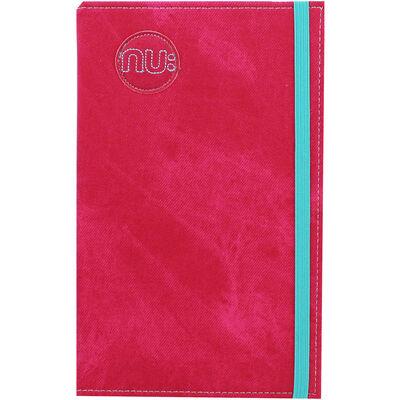 NU Pink Denim Slim Lined Notebook image number 1