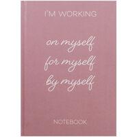 A5 Casebound Working On Myself Notebook