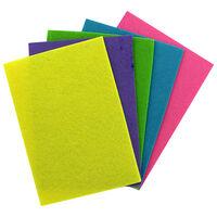 10 Pastel Felt Sheets: Assorted