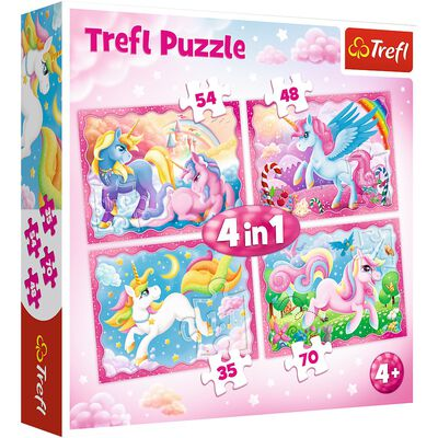 Unicorn 4-in-1 Jigsaw Puzzle Set image number 1