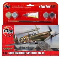 Airfix Supermarine Spitfire Mk.la 1:72 Scale Model Starter Set