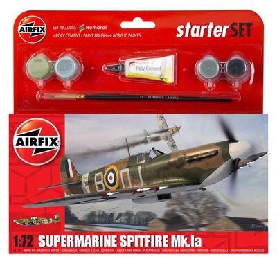 Airfix Supermarine Spitfire Mk.la 1:72 Scale Model Starter Set image number 1