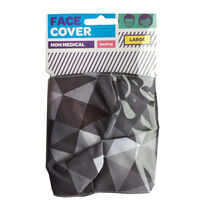 Geo Black & Grey Reusable Face Covering