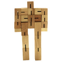Wooden Blockbot Puzzle